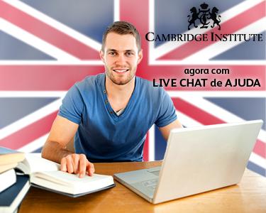Curso Inglês Online c/ Cambridge Institute | 6, 9 ou 12 meses
