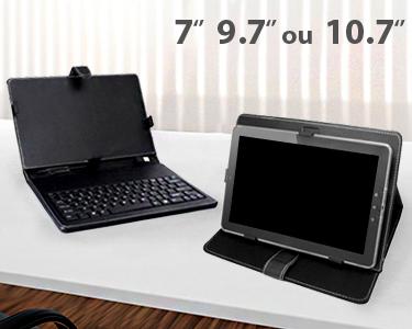 Capa Teclado para Tablet - 7', 9,7', 10'