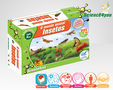 Jogo Científico Science4you | O Mundo Animal - Insectos