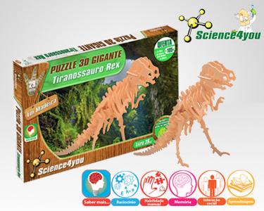 Jogo Científico Science4You | Puzzle 3D Gigante Tiranossauro Rex