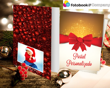 4, 8 ou 12 Postais de Natal Personalizados
