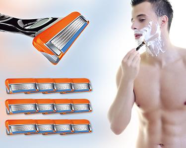 Recargas de Lâminas de Barbear Compatíveis | 12 Conjuntos