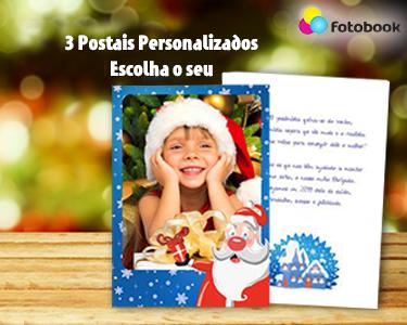 3 Postais de Natal Personalizados Com Foto e Texto