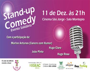 Evento Solidário - Stand-Up Comedy a favor da APAMCM no Cinema São Jorge - Contribua para uma Causa Nobre