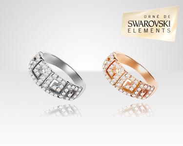 Anel Atenas Swarovski Elements® | Dourado ou Prateado