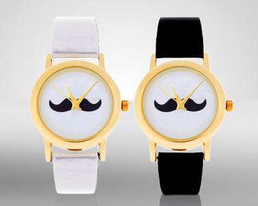 Relógio Moustache Style