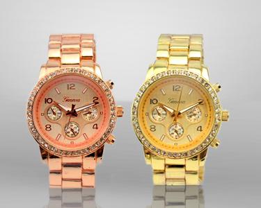 Relógio Rose Gold | Geneva Crystal