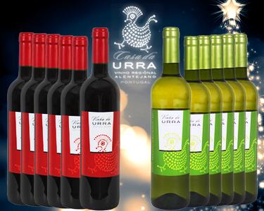 O Melhor Vinho Alentejano - Vinha da Urra | 6 garrafas Branco ou Tinto