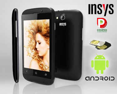 Smartphone Insys® Dual Sim | GPS e Android 4.2