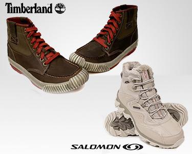 Botas Todo-o-Terreno Timberland® e Salomon® | Extra Conforto