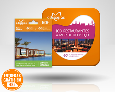2 Presentes: GiftCard Estadias & 100 Restaurantes