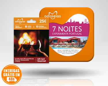 2 Presentes: GiftCard Gourmet & 7 Noites