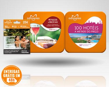 3 Presentes: Gourmet + GiftCard + 100 Hotéis