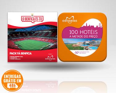2 Presentes: Fã Benfica + 100 Hotéis a Metade do Preço