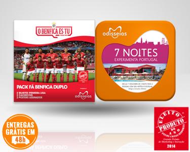 2 Presentes: Fã Benfica Duplo + 7 Noites