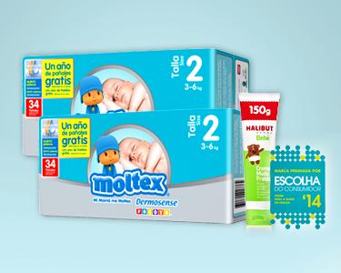 Pack Muda de Fralda | 68 Fraldas Moltex® + Halibut Derma® Creme