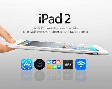Último Dia | iPad 2 da Apple® | Escolha Opção Wi-Fi ou Wi-Fi + 3G