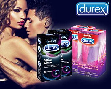 Cabaz Durex® - Mutual Climax + Lovers Connect   Portes Grátis