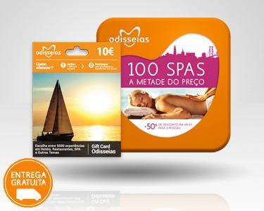 2 Presentes: GiftCard & 100 Spas