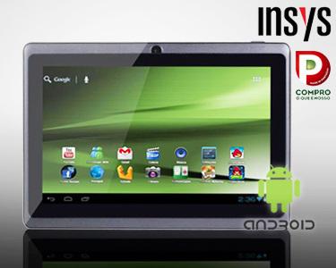 Tablet 7' INSYS Android 4   O Tablet Que Se Transforma em Portátil