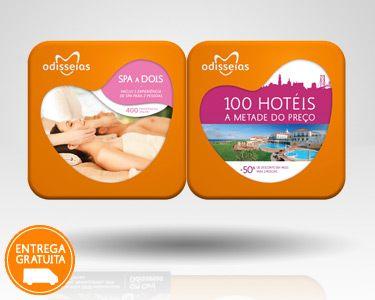 2 Presentes: Spa a Dois & 100 Hotéis