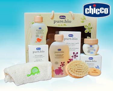 Cabaz Chicco® Pure Bio | Cuidados Naturais do Seu Bebé