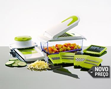 Super Cortador de Legumes - 8 Acessórios para Diferentes Cortes