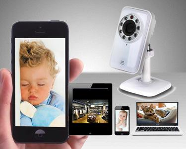 Câmara de Monitorização e Vigilância WI-FI | Smartphone, PC ou Tablet