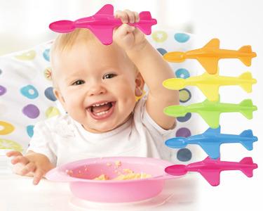 Pack 5 Colheres Para Bebé | Olha o Aviãozinho!
