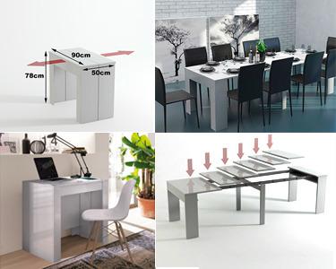 Mesa de Jantar Extensível - 2 Tamanhos Disponíveis