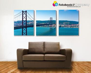 Conjunto 3 Telas com Foto à Escolha | 3 Tamanhos Disponíveis