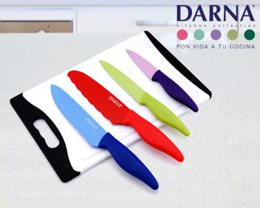 Super Preço | Set 4 facas & Tábua de Cortar Darna®