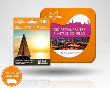 2 Presentes: GiftCard & 100 Restaurantes