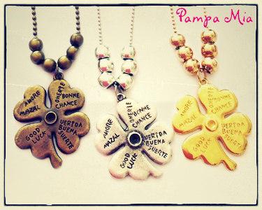 Colar Trevo Pampa Mia® | 3 Cores Disponíveis