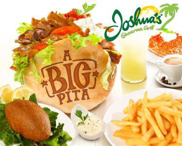 Joshua's Shoarma Grill | 2 Menus Big Pita Completos