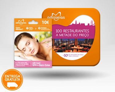 2 Presentes: GiftCard Spa & 100 Restaurantes
