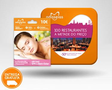2 Presentes: GiftCard Spa & 100 Restaurantes