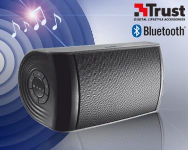 Coluna de Som Portátil Trust® | Bluetooth & Bateria Incorporada