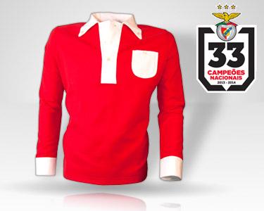 Pack Benfica Campe??o | Réplica Oficial Camisola 1904-1908 + Cachecol