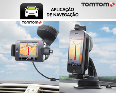 Car Kit Mãos Livres para iPhone com Aplicação de Navegação TomTom