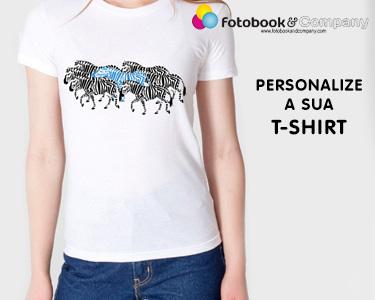 T-shirt Branca Personalizada | Marque a Sua Diferença
