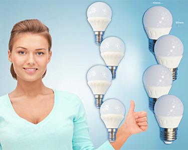 Pack de 4 ou 8 Lâmpadas LED Cerâmica | Poupe na Factura da Luz