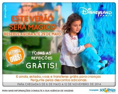 Disneyland® Paris Verão Mágico| 2 Nts c/ Pensão Completa + 3 Entradas