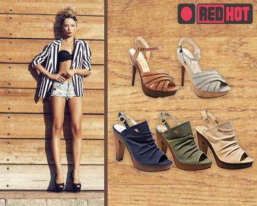 Sandálias de Salto Alto RedHot®   Estilo & Atitude