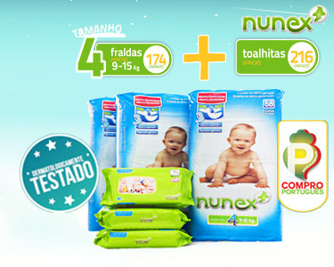 Pack Mensal Bebé | Toalhitas & Fraldas T4 9-15KG