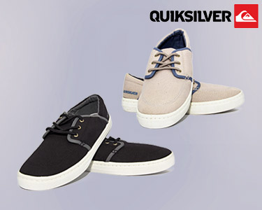 Ténis Quiksilver® Bege ou Preto   Original Thinking