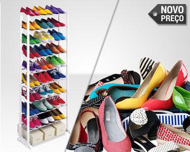 Organizador de Sapatos | Suporta 30 Pares de Sapatos