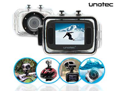 Câmara de Vídeo Unotec XTR Sports   À Prova de Quedas, Água e Lama