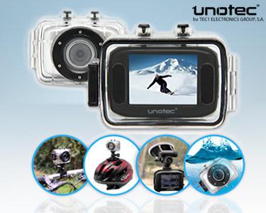 Câmara de Vídeo Unotec XTR Sports | À Prova de Quedas, Água e Lama