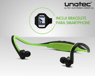 Auriculares Bluetooth WB RUN com Bracelete Desportiva